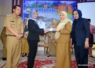 Bupati Hj. Masna Busyro membuka langsung Musrembang RKPD Kabupaten Muaro Jambi Tahun 2020