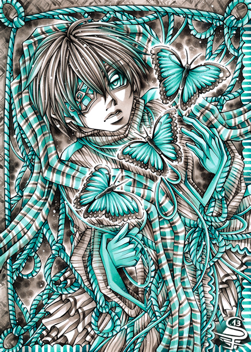 13-Morpho-in-Turquoise-Sandra-Filipova-DarkSena-Manga-Black-and-White-and-Colour-Detailed-Drawings-www-designstack-co