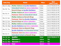 PSL 2018 Pakistan Super League Schedule & Best Time Table, Pakistan Super League (PSL) 2018, PSL 2018 schedule & time table, PSL 2018 Pakistan timing, 2018 PSL schedule fixture & time table, PSL 2018 dubai time, Pakistan Super League 2018 schedule, match time, live score, live streaming, PSL 2018 all teams, PSL 2018 all teams player list, PSL 2018 team squad, Pakistan player foreign player Peshawar Zalmi, Multan Sultans, Karachi Kings, Quetta Gladiators, Lahore Qalandars, Islamabad United,
