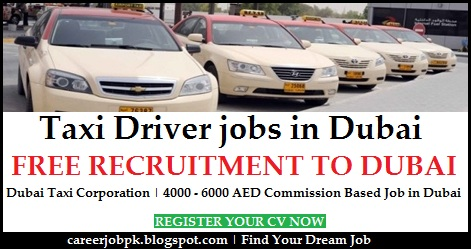 Taxi Driver jobs in Dubai for Pakistani