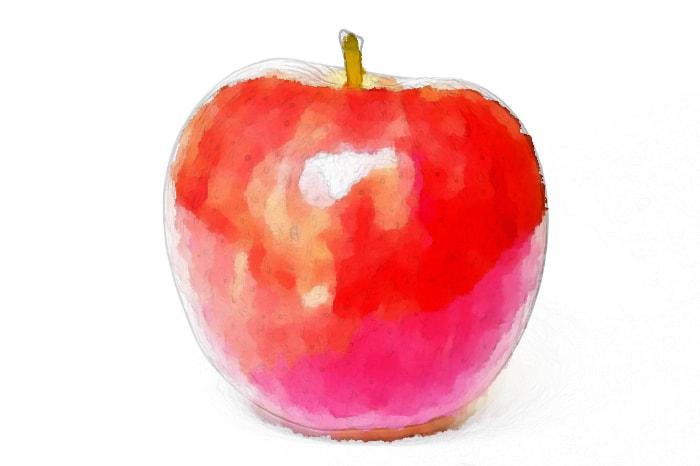 水彩画のりんご