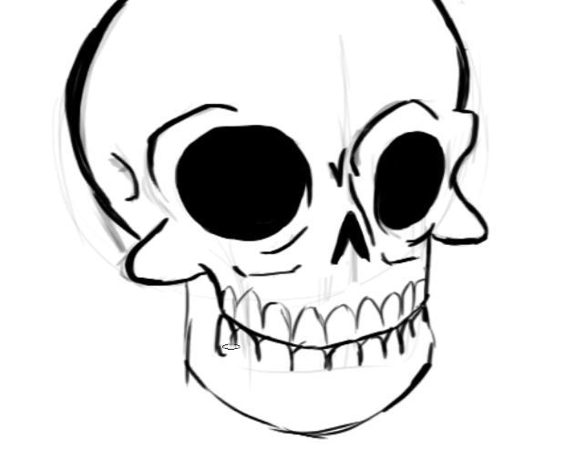 Учимся рисовать части тела человека: черепная коробка