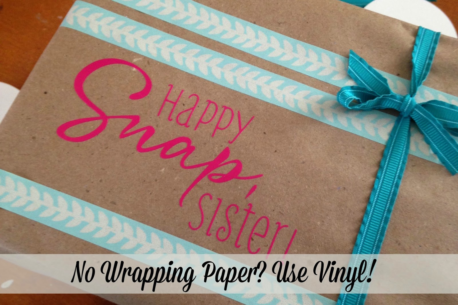 Custom gift wrap, vinyl, DIY, do it yourself