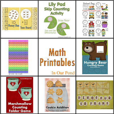 FREE Math Printables from In Our Pond