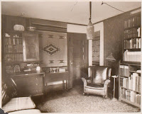 Photograph of the expensively decorated dorm room of Gail Borden '26