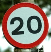 20mph sign on lambethcyclists.org.uk
