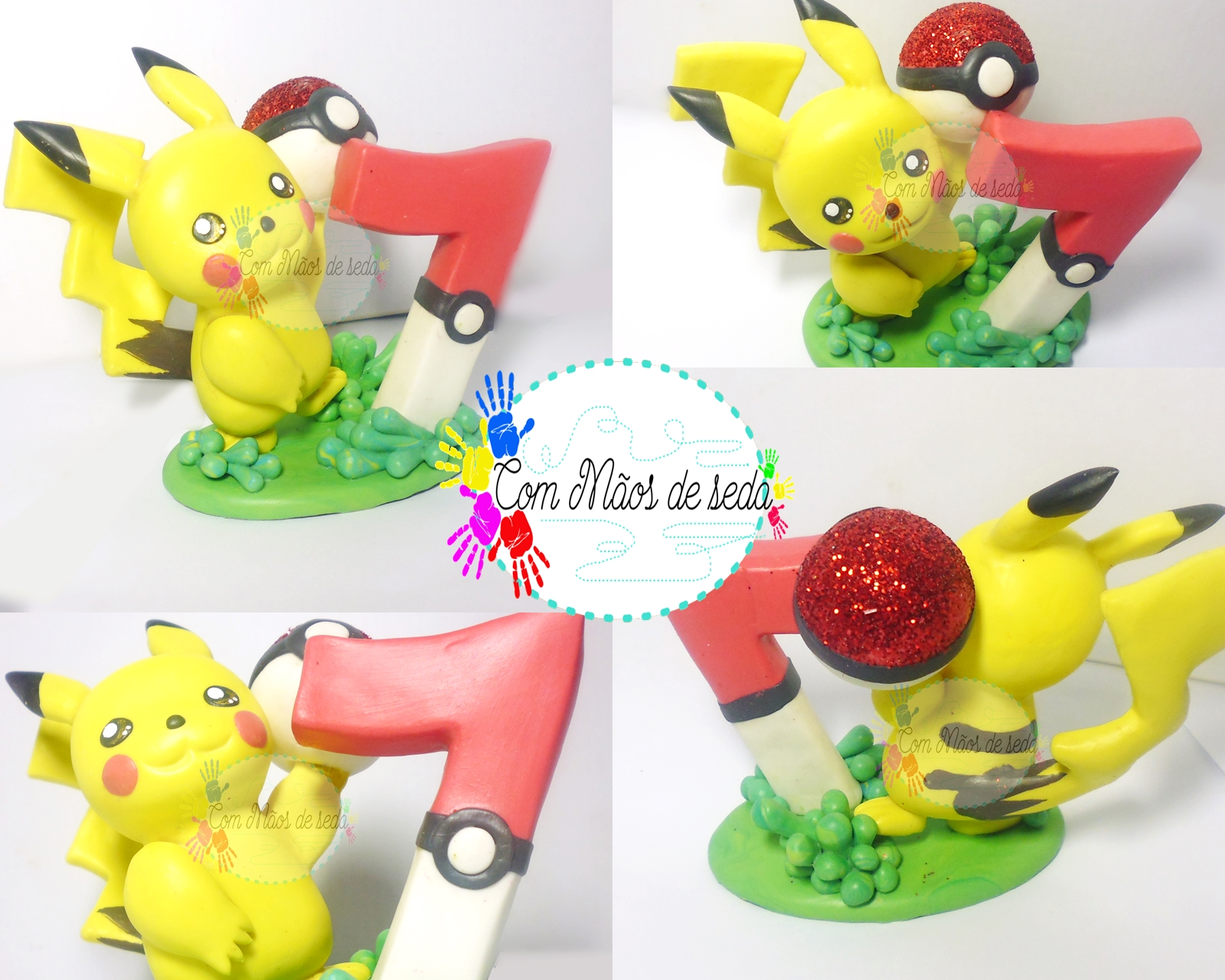 Topo de bolo do Pokemom Pikachu