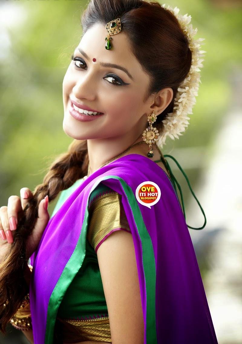 Kesha Khambhati Beautiful In Saree  Cute Marathi -7474