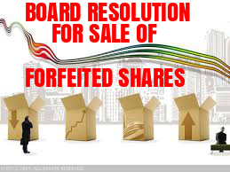 Board-Resolution-Sale-Forfeited-Shares