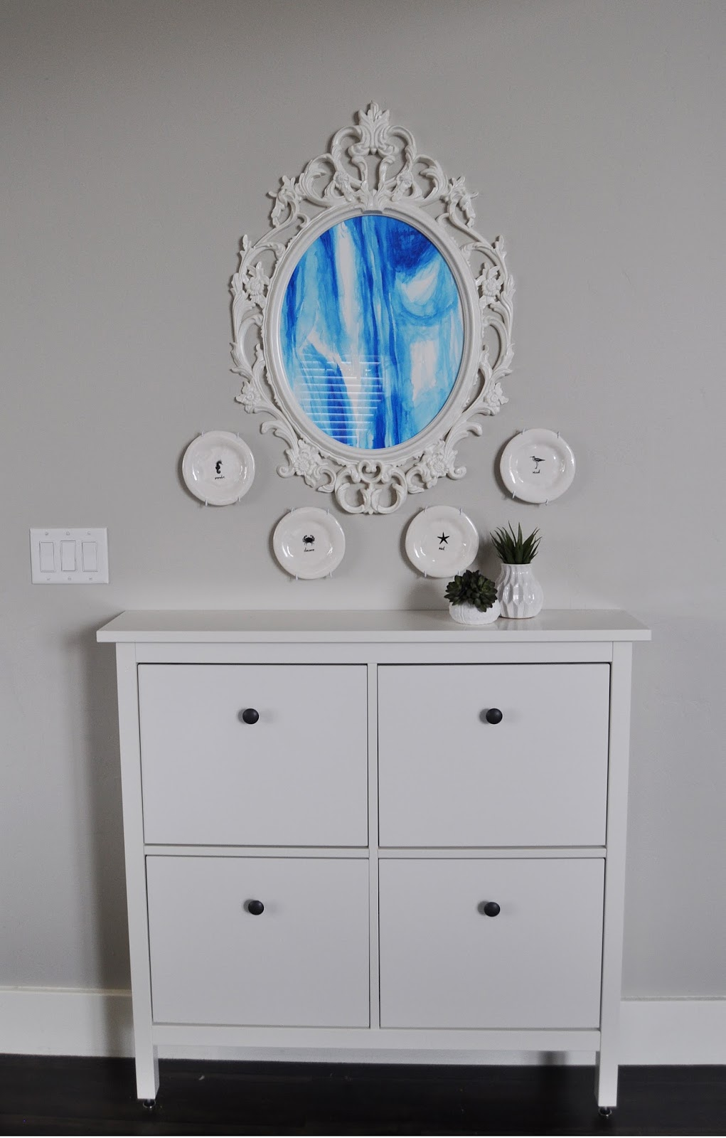 Ikea UNG DRILL Watercolored Frame | Jen Gallacher