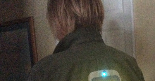 DIY Light-up TARDIS Patch Jacket #wearabletech #etextile