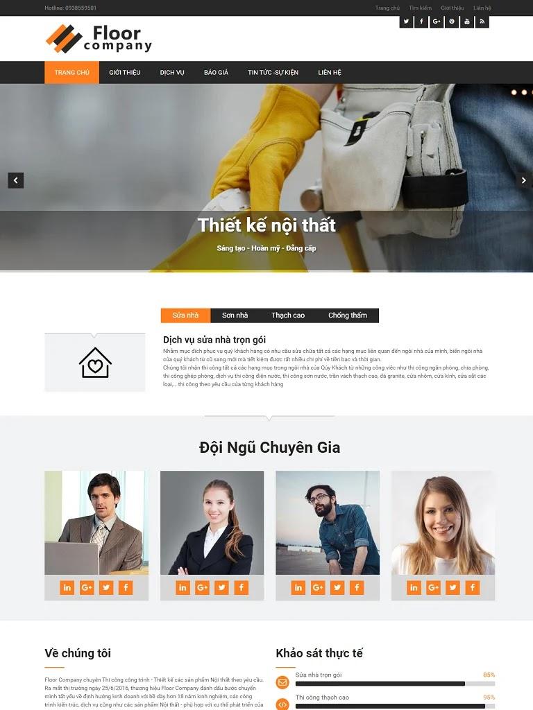 Template blogspot giới thiệu công ty thi công xây dựng - Ảnh 1