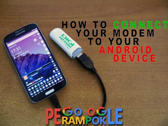 Bagaimana Cara Connect Modem kel Android ?