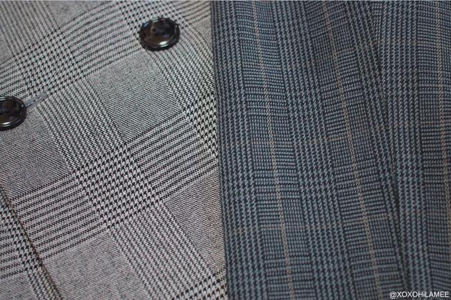 Japanese Fashion Blogger,MizuhoK,New in November,GU=glen check jacket,pants,