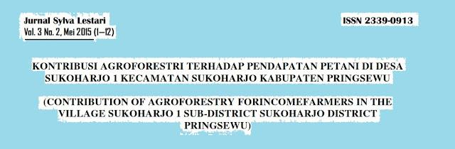 Contoh Penelitian Tentang Agroforestri