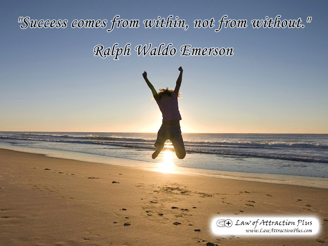 """Success comes from within, not from without."" Ralph Waldo Emerson (Wallpaper + Quote)"