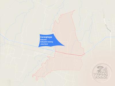 PETA : Desa Karanghegar, Kecamatan Pabuaran