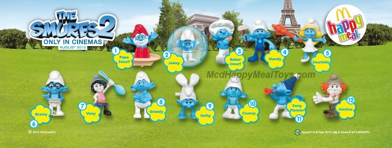 The Smurfs 2 Happy Meal Toys