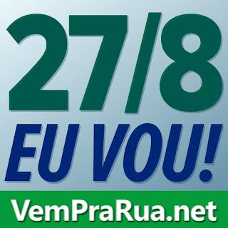Foto verde [Eu Vou] para divulgar protesto pedindo Lula seja preso em prol da Lava Jato