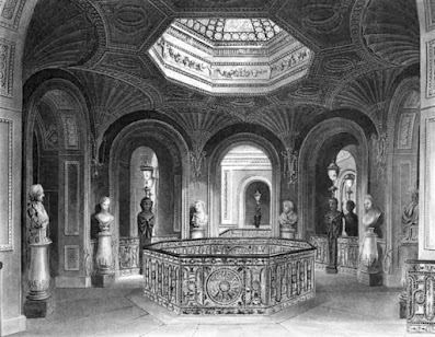 The Gallery of the Staircase, Carlton House, from The History of the Royal Residences by WH Pyne (1819)