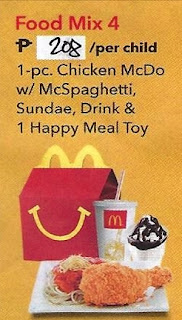 McDo Birthday Party Food Mix 4 price for 2019