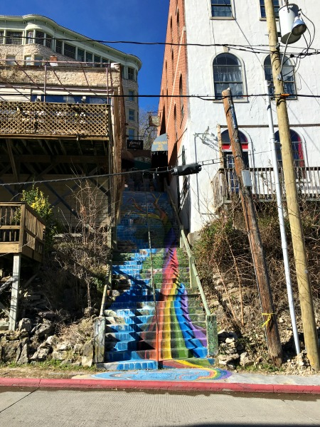 The Rainbow Staircase in Eureka Springs, AR