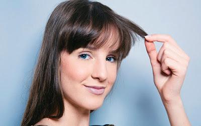 cabelo com franja  testa oleosa