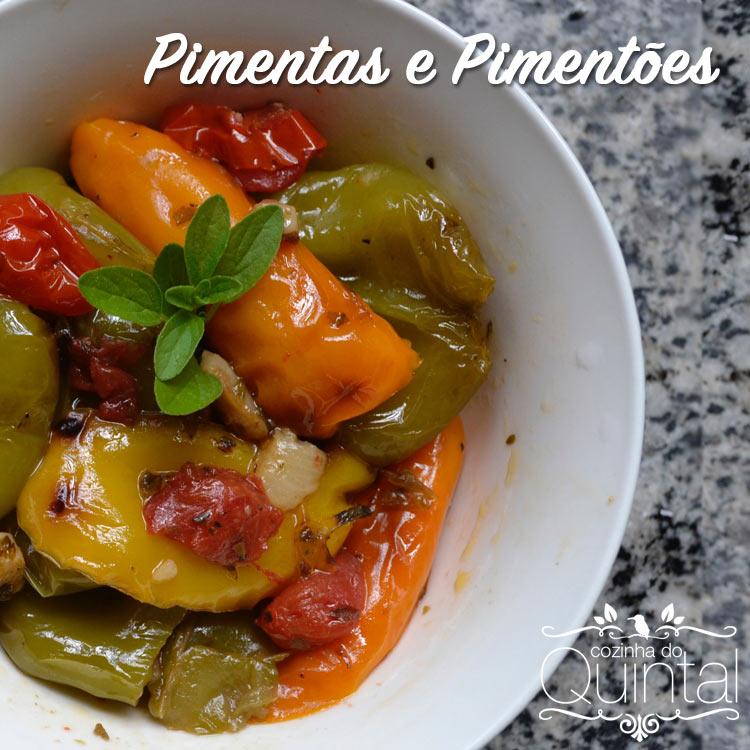 Pimenta Cambuci e Pimentões frescos da horta da Cozinha do Quintal