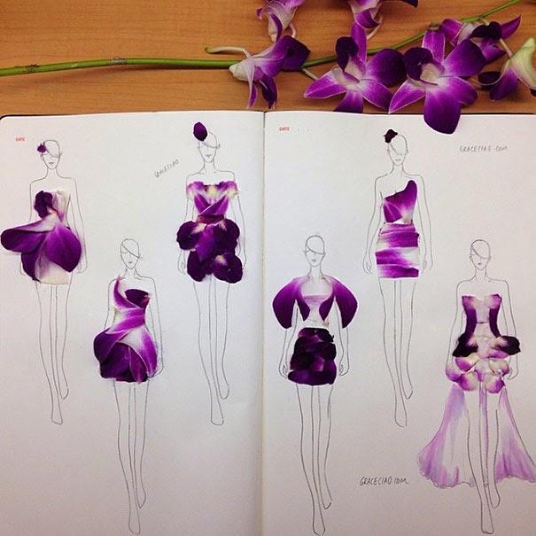Designing dresses with petals
