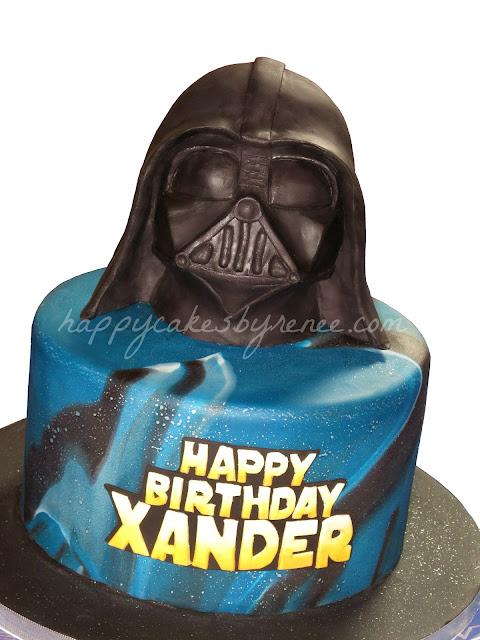 Happy Cakes Bakes Star Wars Darth Vader Cake