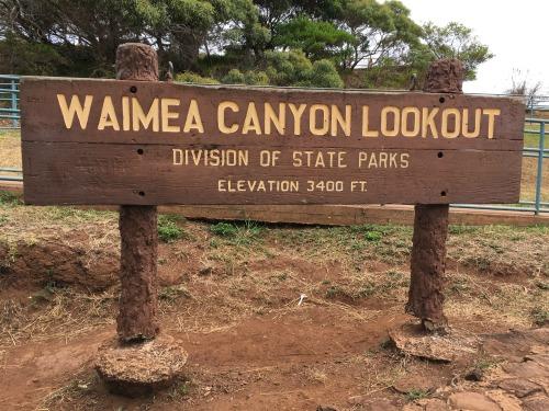 Kauai waimea canyon lookout