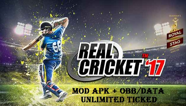 Download Real Cricket 17 Mod Apk OBB Data Unlimited Money