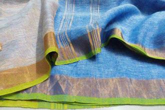 Golden zari linen | Online Zari lenin Sarees