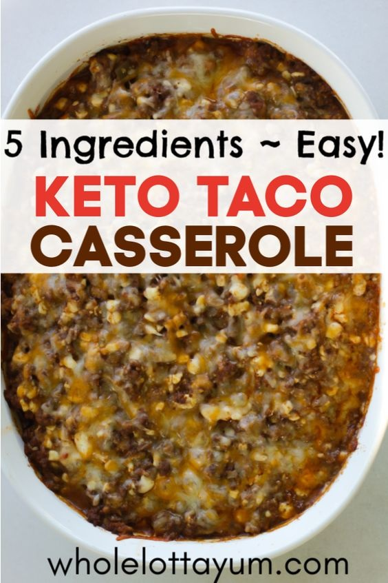 Keto Taco Casserole