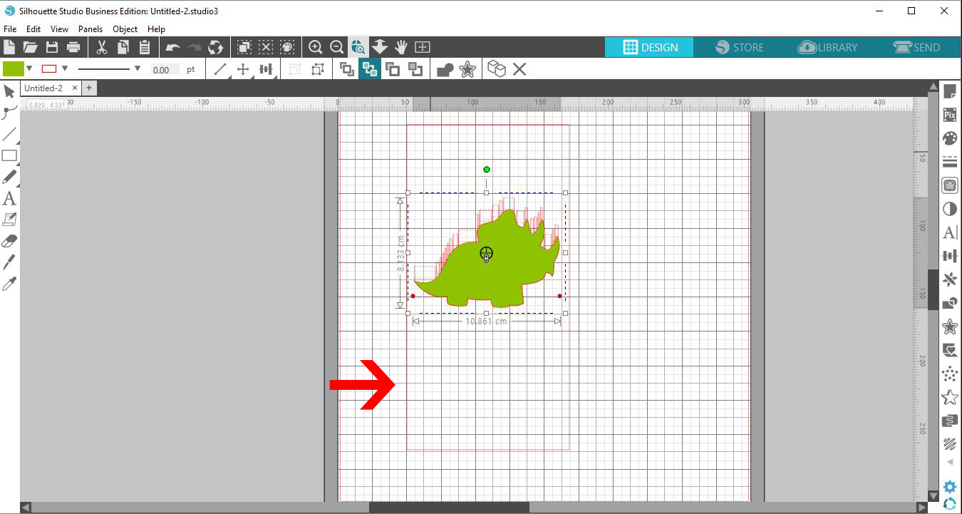 Pop up card creator tutorial for silhouette v 41 design bundles 8 you will find a dash line with 2 red dots either end this is the fold line for your card click on each dot and drag to the edge of the magicingreecefo Choice Image