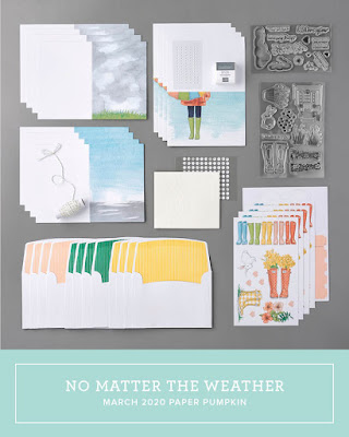 March 2020 Stampin' Up! Paper Pumpkin all-inclusive monthly stamp kit   No Matter The Weather   Nicole Steele The Joyful Stamper