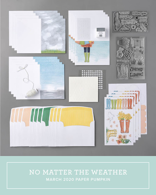 March 2020 Stampin' Up! Paper Pumpkin all-inclusive monthly stamp kit | No Matter The Weather | Nicole Steele The Joyful Stamper