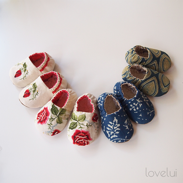 Bohemian Baby Slippers lovelui