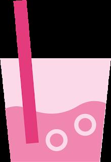 Helados y Bebidas del Clipart Disfrutando en la Piscina.