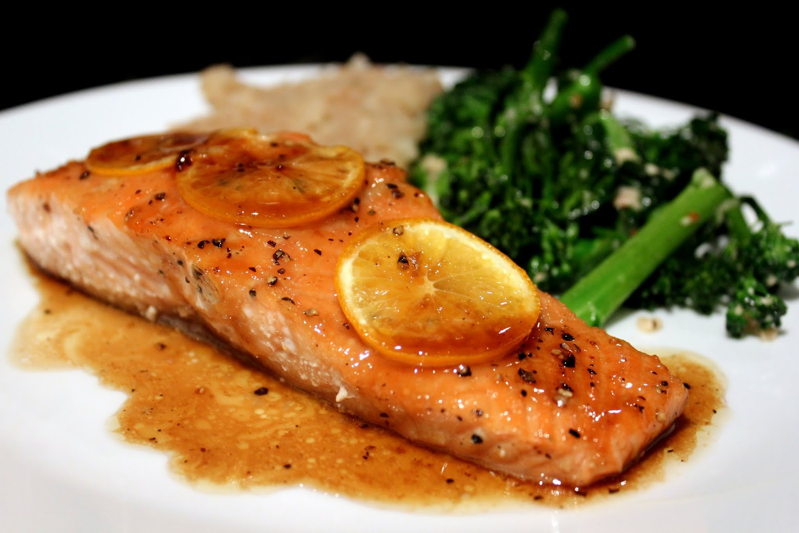 Everything in the Kitchen Sink Brown Sugar Baked Salmon
