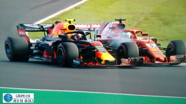 INCIDENTE ENTRE VERSTAPPEN Y VETTEL