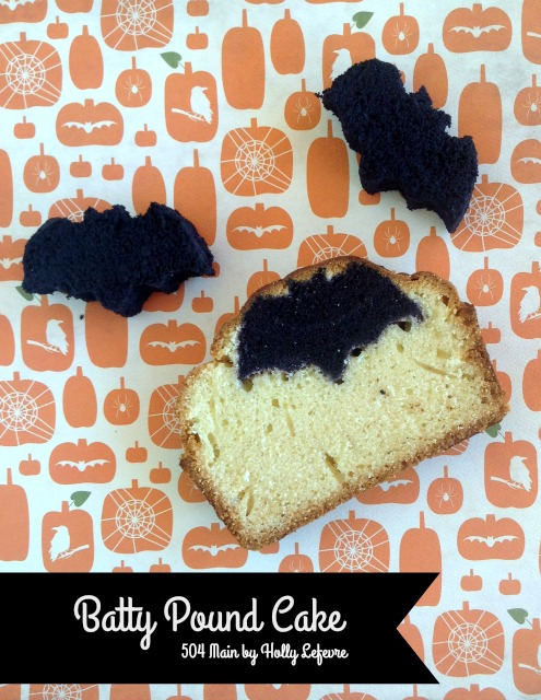 Bake up little bats inside a pound cake