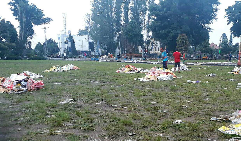 DLH Wonosobo Angkat Bicara Soal Sampah Usai Event Jateng Bersholawat