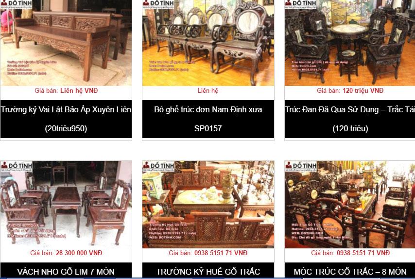 Giá cả bàn ghế trường kỷ Huế đẹp bao nhiêu?
