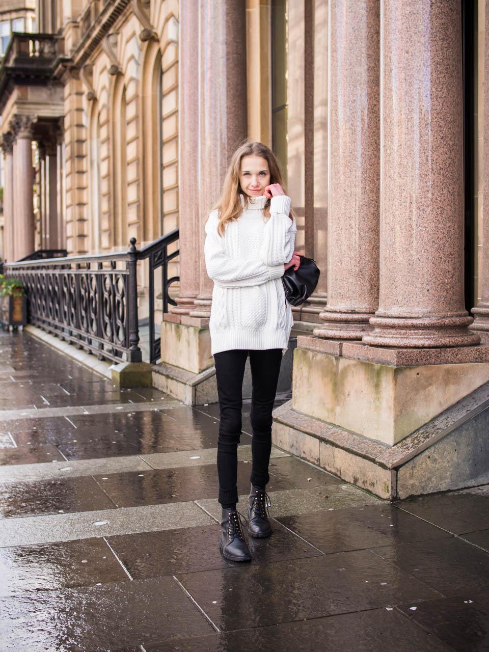 Black and white winter outfits - Mustavalkoinen asu talveen, muoti, bloggaaja