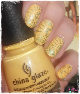 Musztardowy China Glaze i Stemple, Paznokcie na Szybko