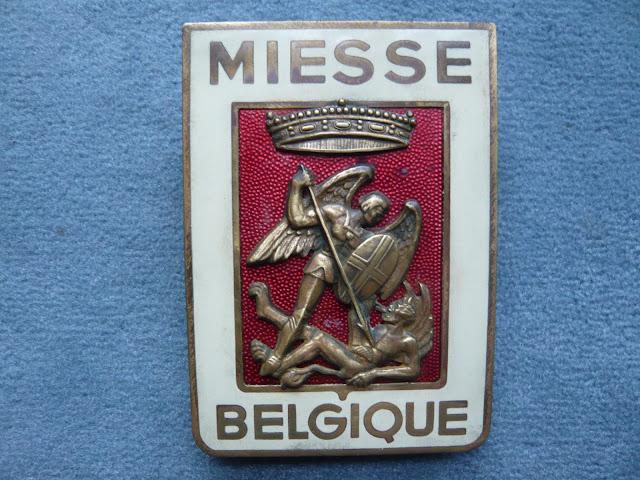 MIESSE Belge Belgique radiator emblem badge vintage camion autocar