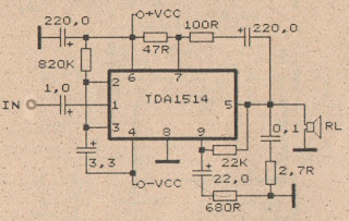 100 Watt Power amplifier with IC TDA1514