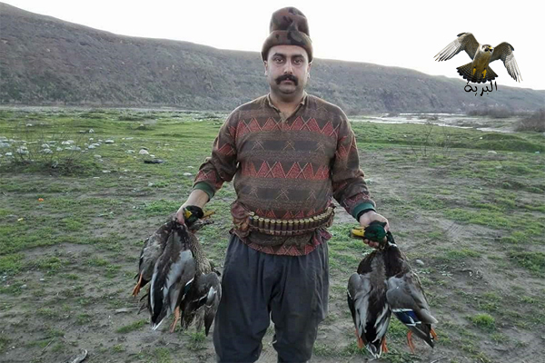 عشاق الصيد شاهد الطريقة الذكية التي يتم بها صيد البط في العراق كوردستان ...