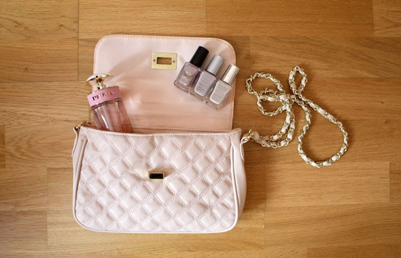 nude quilted bag barry m